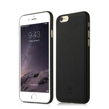 Baseus Comfy Series PU Paste Skin PP Protective Case for iPhone 6 & 6s Mobile Phone Business Simplism Pouch Cover Pure Color
