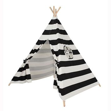 Stripe Teepee in Black or Pink