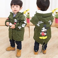 Winter Kids Windbreaker Outerwear Children Clothes