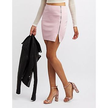 Zip-Front Bodycon Skirt | Charlotte Russe