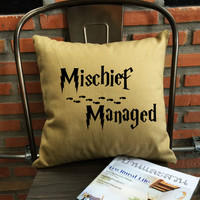 Mischief managed Throw Pillow Harry potter Throw Pillow cover