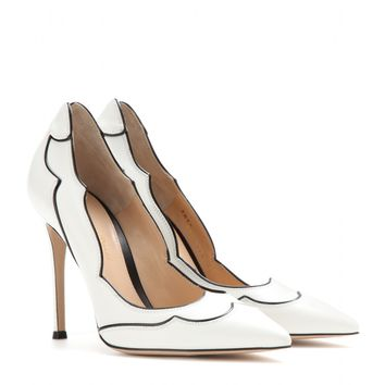 gianvito rossi - lucille leather pumps