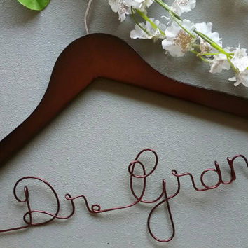 Personalized Doctor Hanger, New Graduate or The Soon to be, Great Gift for White Coat Ceremony
