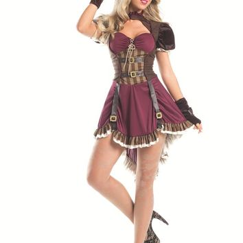 """Bewicked Female 2 Piece """"Steam Punk Mad Hatter"""" Costume BW1550"""