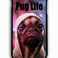 iPhone 6 Plus Case - Rubber (TPU) Cover with Funny Pug Life On Galaxy Rubber Case Design