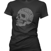 Hell Bent Skull Women's Crew Neck T-shirt
