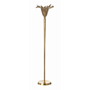 Arteriors Home DK76003 Maize Vintage Brass One Light Torchiere Floor Lamp