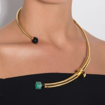 Emerald Flamant Necklace