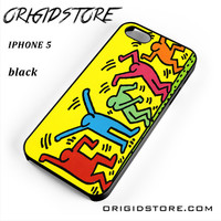 Keith Haring Pop Art For Iphone 5 Iphone 5S Case UY