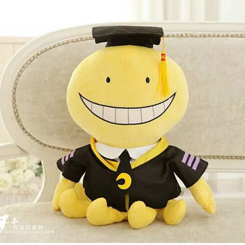 "Hot Assassination Classroom Korosensei Octopus Cosplay Anime Plush Toy Doll Smile Face 12 "" Peluche Toys for Kids Gift"