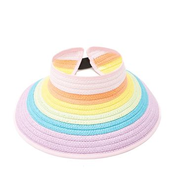 Rainbow Straw Visor