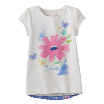 Disney's Cinderella Pleated Back Babydoll Top by Jumping Beans - Girls