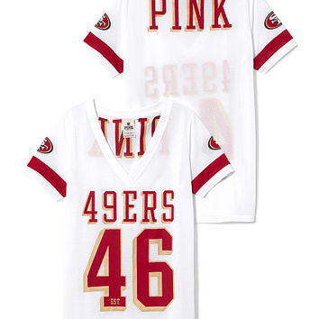 San Francisco 49ers Sporty Athletic V-neck Jersey - PINK - Victoria's Secret