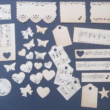 kit smashbook music vintage junk journal wanderlust journal smash book sheet music paper planner bujo scrapbook midori lasoffittadiste