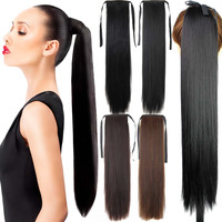 "Fake Hair Ponytail Long Straight Hair Pieces Synthetic Hair 105g 22"" Hairpiece C"