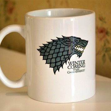 New Quality Ceramic Coffee Mug Cup Of Game of Thrones House Stark Winter is Coming