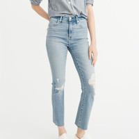 Womens High-Rise Ankle Flare Jeans | Womens Bottoms | Abercrombie.com