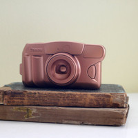 Upcycled Copper Camera, Painted Camera, Copper Painted Camera, Painted Camera Decor, Upcycled Canon Camera