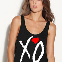 XO The Weeknd Ladies Flowy Boxy Tank Top Tshirt Ovoxo Thursday Liam Zayn Harry Louis Niall