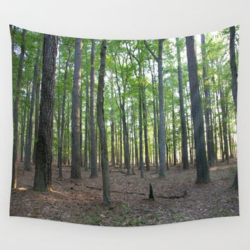 Forest Nature Trail Wall Tapestry by BravuraMedia