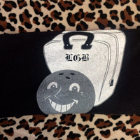 LETS GO BOWLING - Upcycled Concert/ Band T-shirt Makeup/ Pencil Pouch - ooak