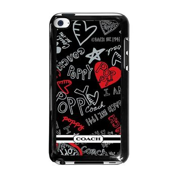 COACH NEW YORK POPPY iPod Touch 4 Case Cover