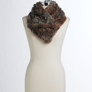 Linda Richards Rabbit Fur Infinity Loop Scarf