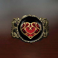 life Zelda heart container Adjustable Ring, legend of Zelda Vintage Adjustable ring jewelry