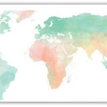 Earth Watercolor Cell Phone Case Cover iPhone 4 4S 5 5S 5C Samsung Galaxy S3 S4 Globe Global World Map