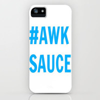 Hashtag Awkward Sauce (Blue) iPhone Case by Toni Miller | Society6