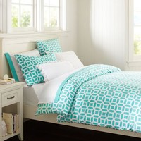 Peyton Duvet Cover + Sham, Pool
