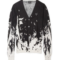 McQ Alexander McQueen Printed Silk and Cotton-Blend Cardigan | MR PORTER