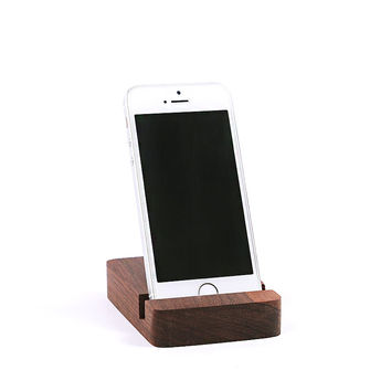 Desktop Cell Phone Stand for iPhone 6 Plus 5 Portable Bamboo Smartphone Holder simple natural and elegant Universal Holder Stand