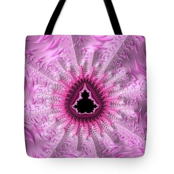 Lovely Pink Fractal Art Tote Bag
