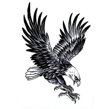 Temporary Tattoos Large Arm Body Waterproof Sticker Removable Arm Eagle tattoo