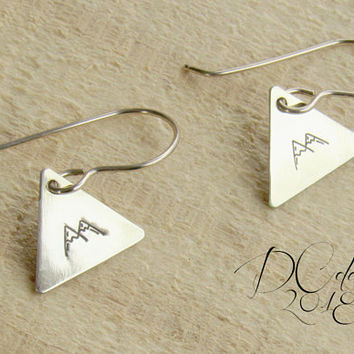 Arrow, Triangle Earrings, Geometric Earrings, Brass Earrings, Tribal Earrings, Bridesmaid Earrings, Gifts for Her, Statement Earrings