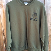 90's-current USMC issue physical training (PT) sweatshirts