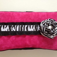 Diva Baby Zebra and Hot Pink Baby Wipe Case