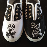 Hand Painted Nightmare Before Christmas Shoes