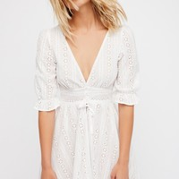 Free People Cotton Eyelet Dress