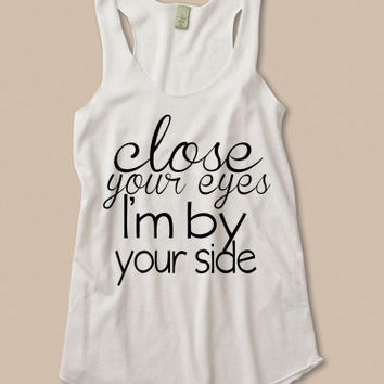 close your eyes, I'm by your side. deployment tank at ease designs usmc navy army usaf uscg clothing