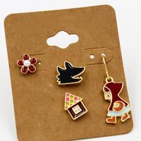 Little Red Riding Hood Earrings Pack