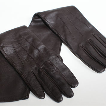 Bcbg Max Azria Long Leather Gloves