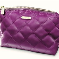 Grape Quilted Makeup Bag I BH Cosmetics