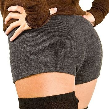 Charcoal Small Sexy Low Rise Yoga & Dance #Shorts Stretch Knit KD dance New York High Quality #Dancewear #BootyShort High Quality Made In USA