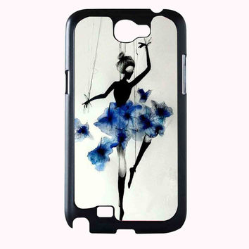 girl with flower dress art FOR SAMSUNG GALAXY NOTE 2 CASE**AP*