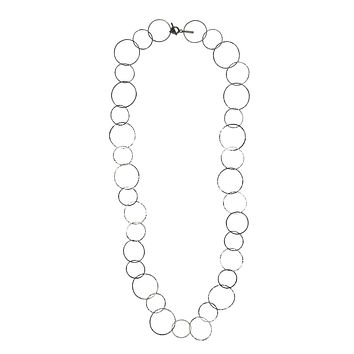 Silver Lindy Links Long Necklace
