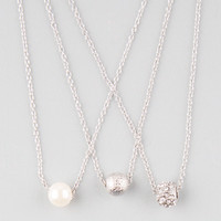 FULL TILT 3 Piece Diamond Dust/Fireball/Pearl Necklaces | Necklaces