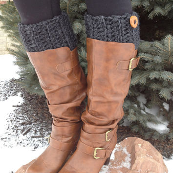 Womens Crochet Boot Cuffs, Boot Toppers, Boot Socks, Faux Leg Warmers, Womens Boot Socks, Textured and Stretchy, Peep Socks,Chunky and Thick