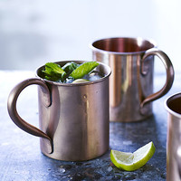 Set Of Two Moscow Mule Copper Mugs